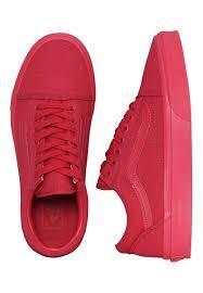 crimson vans old skool crimson shoes impericon com worldwide