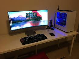 Samsung Desk Samsung C34f791 Powered By Gtx1080 And I7 6800k Ultrawidemasterrace