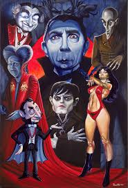 classic halloween monsters dracula legacy by bob doucette caricatures by bob doucette