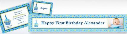 custom 1st birthday invitations party city