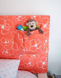 Kids Fabric Headboard by How To Make A Headboard Slipcover With Storage Pocket Merriment