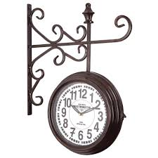 Iron Home Decor by Yosemite Home Decor 16 In X 20 In Double Sided Iron Wall Clock