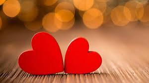 love red love hearts pair macro desktop background wallpaper