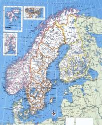 Scandinavia Map Large Detailed Political Map Of Norway Sweden Finland And