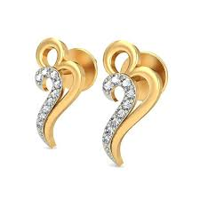 real gold earrings heart earrings real certified 0 1 ct solid gold workwear