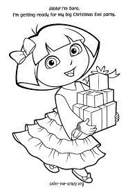 free christmas coloring pages dora christmas coloring pages