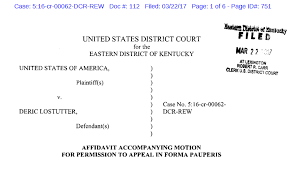 Cm Ecf Help Desk The United States V Deric Lostutter Deric Tells The Court He Is