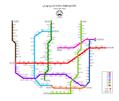 Metro Violet Line Map by Tehran Maps And Directions Tehran Brt And Metro Lines Map