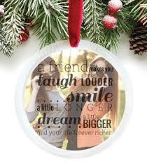 personalized friendship ornament best friend photo ornament a