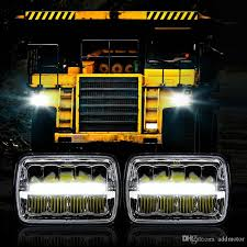 jeep wrangler square headlights 2017 addmotor 5x7inch led square headlight x40w high low sealed