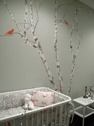 color theory boston nurseries gray green walls birch tree