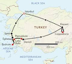 Bosphorus Strait Map Discover Turkey Private Journey Itinerary U0026 Map Wilderness Travel