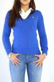 womens ralph sweater v neck cable knit jumper crochet and knit