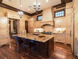 Kitchen Chandelier Country Kitchen Cabinets Glossy Concrete Floor Modern Light