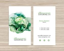 Catering Calling Card Design Chef Business Card Etsy
