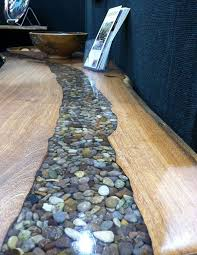 rock and resin river table by tree stump woodcrafts diy