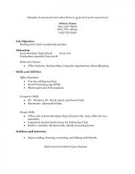 resume exles no experience resume exles no experience revolutionary for and get
