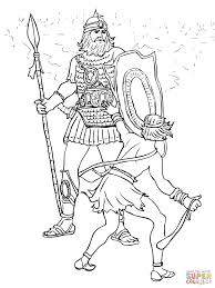 david and goliath fight coloring page free printable coloring pages