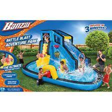 Backyard Pool With Slide - water slides for backyard inflatable bounce house pool games kids