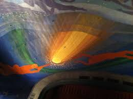 beautiful 1950 rockwell kent ceiling at the cape cod cinema in