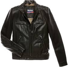 winter biker jacket blauer usa biker winter leather jacket men jackets fashion black
