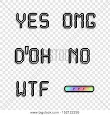 popular phrases omg yes no vector photo bigstock