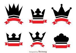 logo ribbon crown and ribbon logo vectors free vector stock