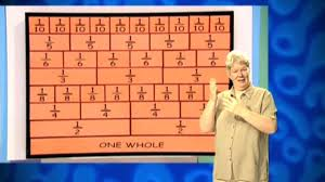 bbc two the maths channel fractions building a fraction wall