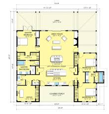 One Story Farmhouse by 3 Bedroom Country Floor Plan Home Decorating Interior Design