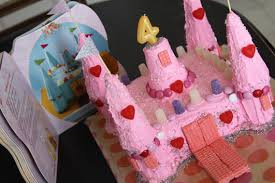 princess castle birthday cake from cake mix and ice cream cones