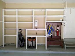 Build Wood Garage Storage by Endearing Diy Garage Storage Racks And Garage Shelving Stop