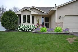 Front Of House Landscaping Ideas by Incredible Front Gardens Designs With Massive Green Bush Shrub