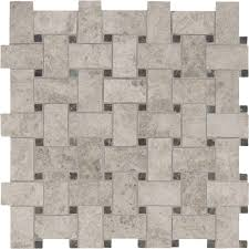 Basket Weave Brick Patio by Ms International Tundra Gray Basketweave 12 In X 12 In X 10 Mm