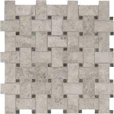 basketweave backsplash tile flooring the home depot