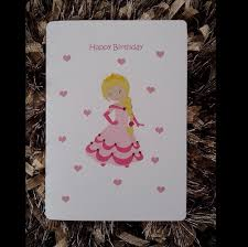 personalised princess birthday card personalized