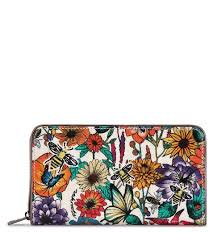 bloom wallet large zip around wallet optic in bloom in what s new at sakroots