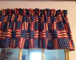 Blue Curtain Valance Amazon Com Red Blue American Flag Stars And Stripes Window