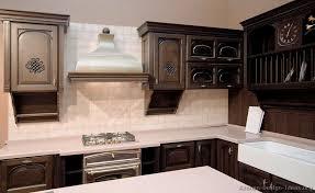 dark wood kitchen cabinets brilliant kitchen high contrast white