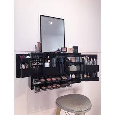 Makeup Organizer Desk by Black Wall Mounted Counter Top Makeup Organizer Vanity
