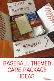 baseball gift basket baseball themed care package decorating gift and box