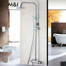 compare prices on shower tap set online shopping buy low price bathroom contemporary 8 inch thermostatic rainfall shower head bathroom bath shower mixer taps shower faucet tap