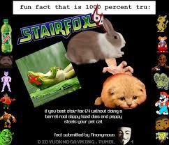 Star Fox Meme - fun fact that is 1000 true star fox know your meme