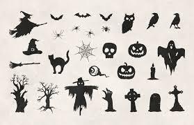 halloween vectors free halloween vector silhouettes u2014 medialoot