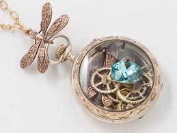 topaz crystal necklace images Victorian rose gold sterling silver pocket watch case necklace jpg