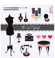 nail polish clipart fashion clipart girly clipart scrapbook