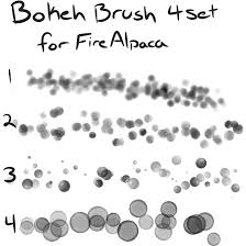 bokeh brush set for firealpaca free by mo fox on deviantart