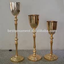 Tall Metal Vases For Wedding Centerpieces by Golden Tall Wedding Pillar Metal Flower Stand Vase Centerpieces