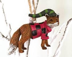 fox ornaments etsy