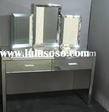 Glass Vanity Table With Mirror Mirrored Dressing Table Mirror Vanity Sets Venetian Mirror