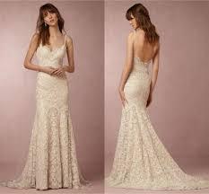 2017 bhldn backless wedding dresses spaghetti strap